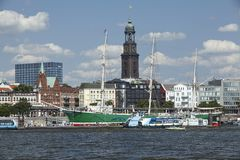 Hamburg - St Michaelis kościół Fotografia Royalty Free