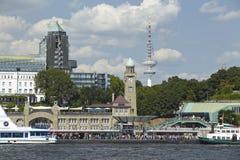 Hamburg - St Pauli Jetties Royalty-vrije Stock Afbeeldingen