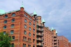 Hamburg stad av lager Arkivbild