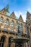 Hamburg stadshus Arkivbild