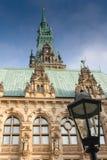 Hamburg stadshus Royaltyfria Foton