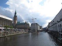 Hamburg stadshus Arkivfoton