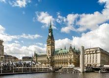 Hamburg stadshus I Tyskland Royaltyfria Foton