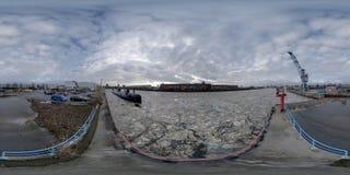 Hamburg 360 stopni panoramy ulicy widok Zdjęcia Royalty Free