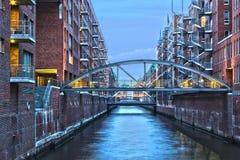 Hamburg storehouses Royalty Free Stock Images