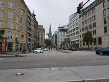 Hamburg. Street of Hamburg Royalty Free Stock Photos