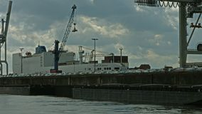 Hamburg Stueckgut Hafen stock video footage