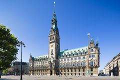 Hamburg Town Hall. The famous town hall in Hamburg, Germany Royalty Free Stock Photos