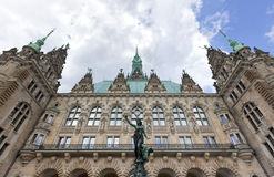 Hamburg Town Hall from the courtyard Royalty Free Stock Images