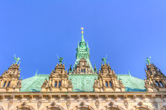 Hamburg town hall Royalty Free Stock Photography