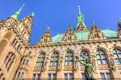 Hamburg town hall Royalty Free Stock Images