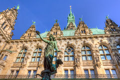 Hamburg town hall Stock Photos