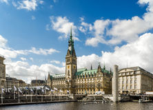 Hamburg Town Hall IN Germany Royalty Free Stock Photos