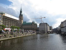 Hamburg town hall. Germany, city, nord Royalty Free Stock Photography