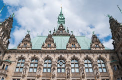 Hamburg Town-hall - Germany, Hamburg. Photo taken of Hamburg Town-hall from the inner courtyard Stock Photography
