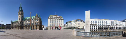 Hamburg Town Hall Panorama, editorial Royalty Free Stock Photos