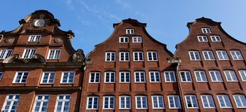 Hamburg Trader Houses. Historic trader houses in the old hanseatic trade city of Hamburg, Germany Stock Photos