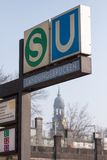 Hamburg-U-Bahnstation Lizenzfreies Stockfoto