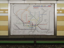 Hamburg underground train network map Stock Photos