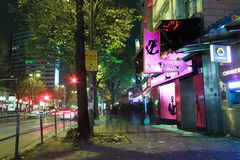 Hamburg vid natt Royaltyfria Foton