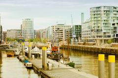 Hamburg, view on the new district Hafencity, modern arc Stock Photos