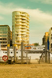 Hamburg, view on the new distrist Hafencity, modern arc Royalty Free Stock Photography