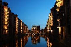 Hamburg warehouse district Royalty Free Stock Image