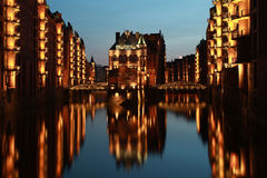 Hamburg warehouse district Royalty Free Stock Photography