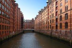 The Hamburg warehouse district Stock Photo