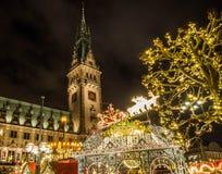 Hamburg-Weihnachtsmarkt in Deutschland Stockfoto