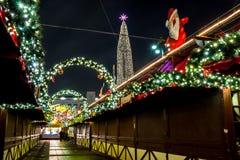 Hamburg Weihnachtsmarkt, Germany stock photo