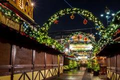 Hamburg Weihnachtsmarkt, Tyskland Fotografering för Bildbyråer