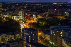 Hamburg widzieć od St Michael ` s kościół zdjęcie royalty free