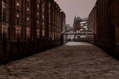 Hamburg in Winter Royalty Free Stock Photography