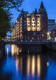 Hamburg; world heritage site historical warehouse district Speicherstadt Stock Images