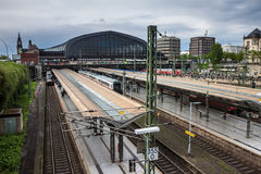 Hamburg-Zentralbahnstation Lizenzfreies Stockfoto