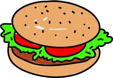 hamburgare Arkivbilder
