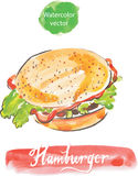 hamburgare vektor illustrationer