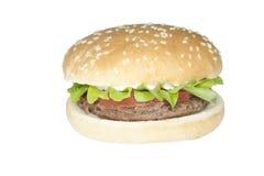 Hamburgare för nötkött för matmateriel Royaltyfri Bild