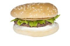 Hamburgare för nötkött för matmateriel Arkivbild