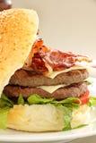 hamburgaredäckaredouble arkivfoto