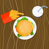 hamburgaredrinksmåfiskar Arkivfoton