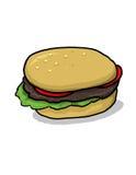 hamburgareillustration Arkivbild