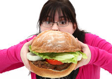 hamburgarejätte Fotografering för Bildbyråer