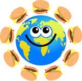 hamburgarejordklot royaltyfri illustrationer