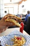 hamburgarematställe royaltyfria bilder