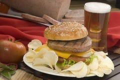 hamburgarespecial Fotografering för Bildbyråer