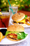 hamburgareteriyaki Royaltyfri Fotografi