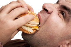 Hamburge mangeur d'hommes Photo stock