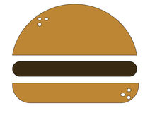 Hamburger‬‏ Royalty Free Stock Photos